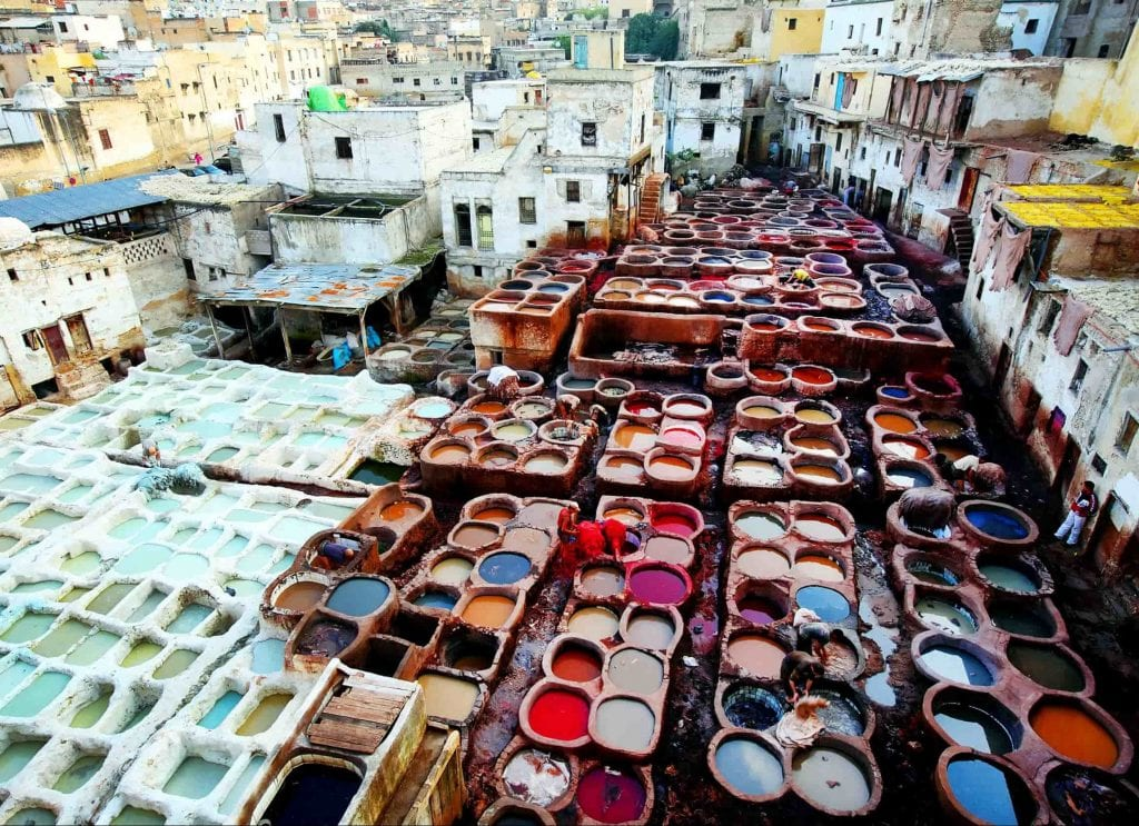Fez-Morocco-leather-colours