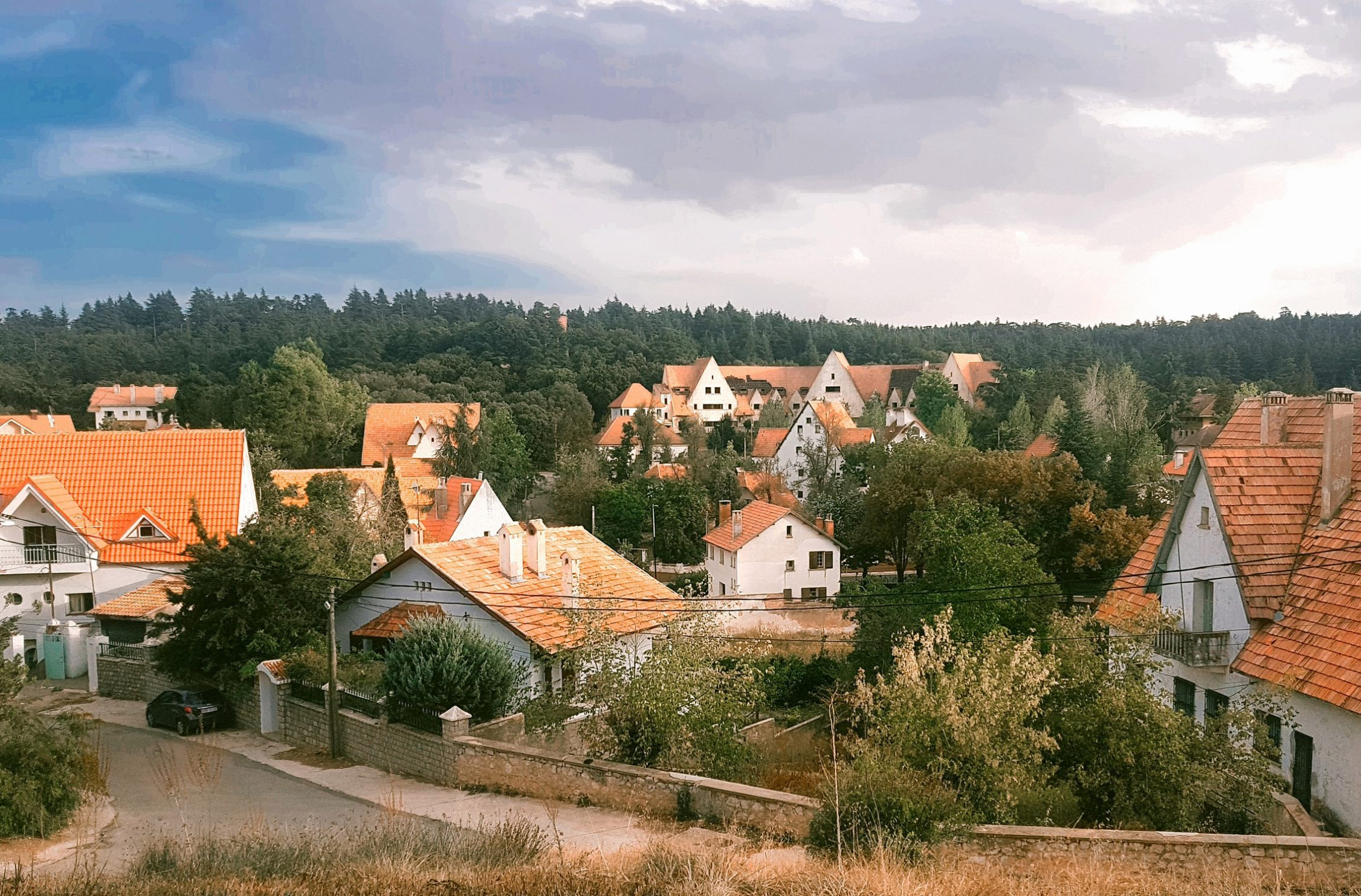 houses in Ifrane city in Morocco