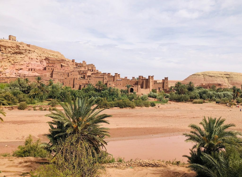 Ait Benhaddou Kasbah Is A Fortified Village In Morocco