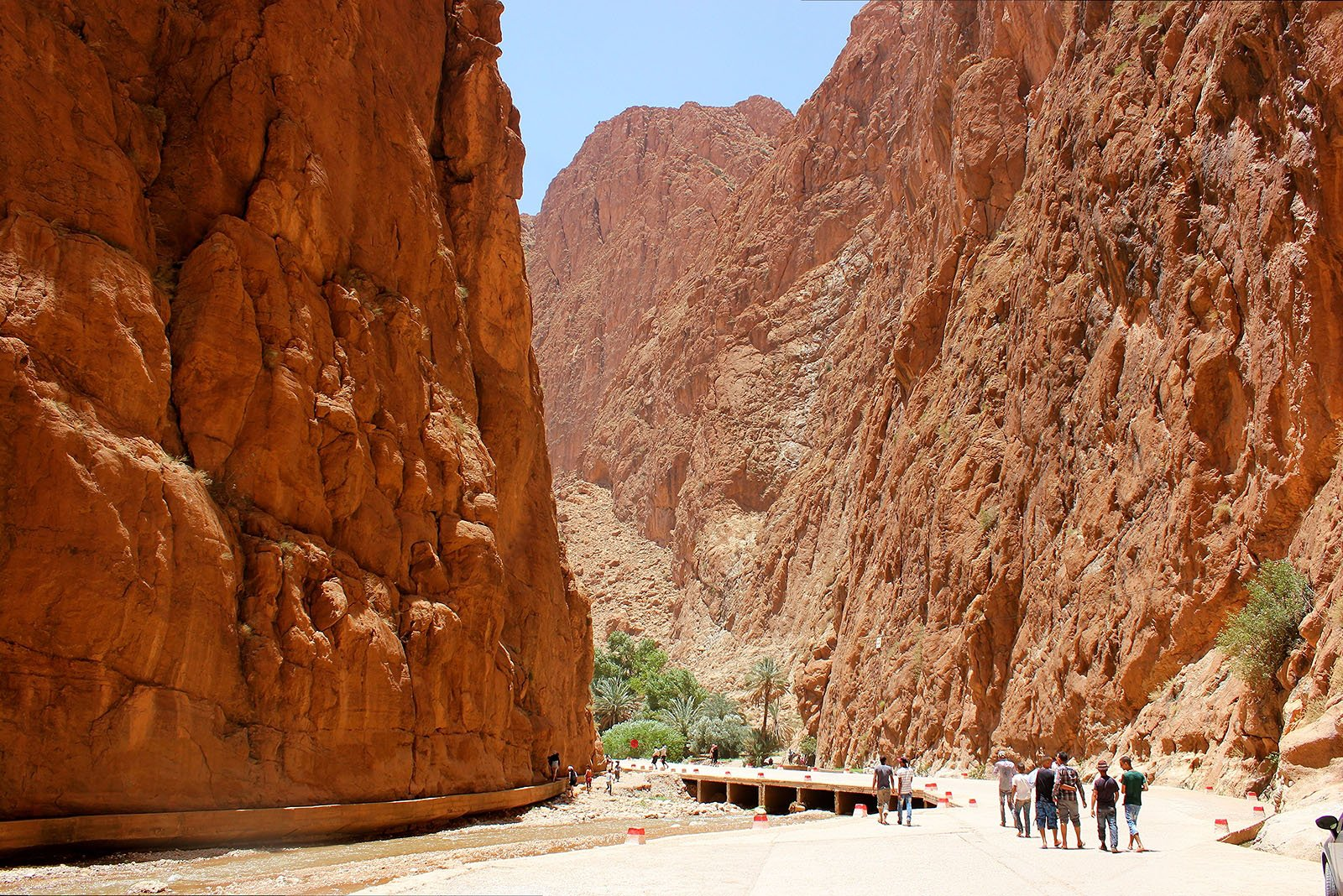 the Todra Gorges limestone canyons in the High Atlas Mountains