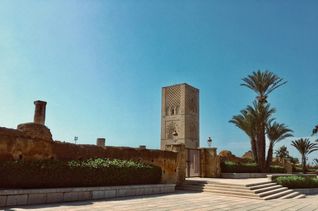 The Hassan Tower In Rabat The Capital City Of Morocco