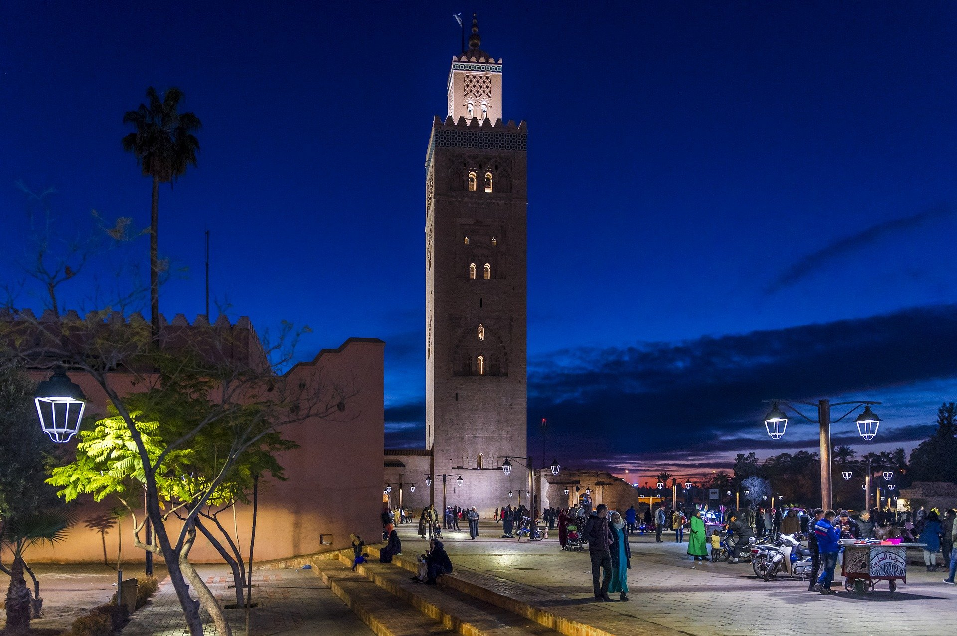 the Medina of Marrakech during the night