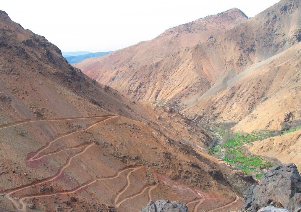 pass in the High Atlas Mountains in Morocco