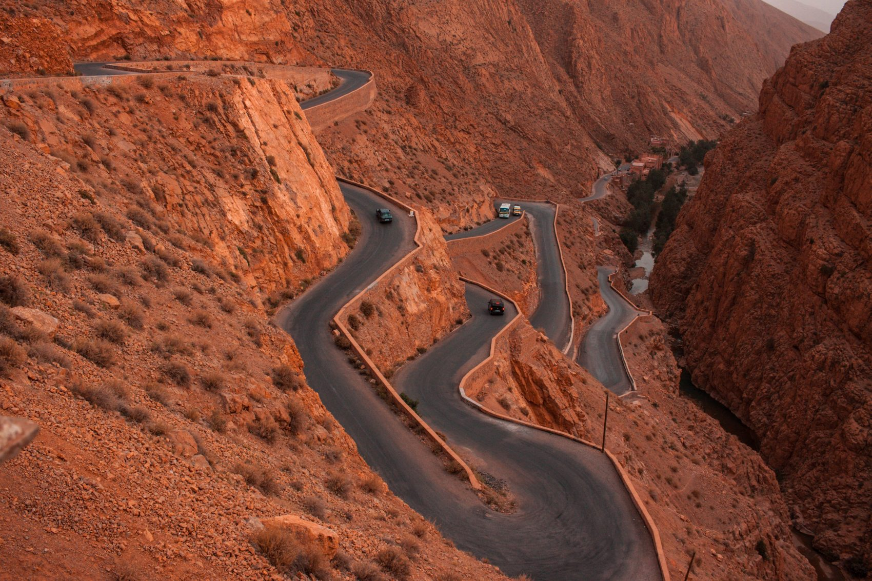 the road of one thousand kasbahs in Dades Valley in High Atlas Mountains