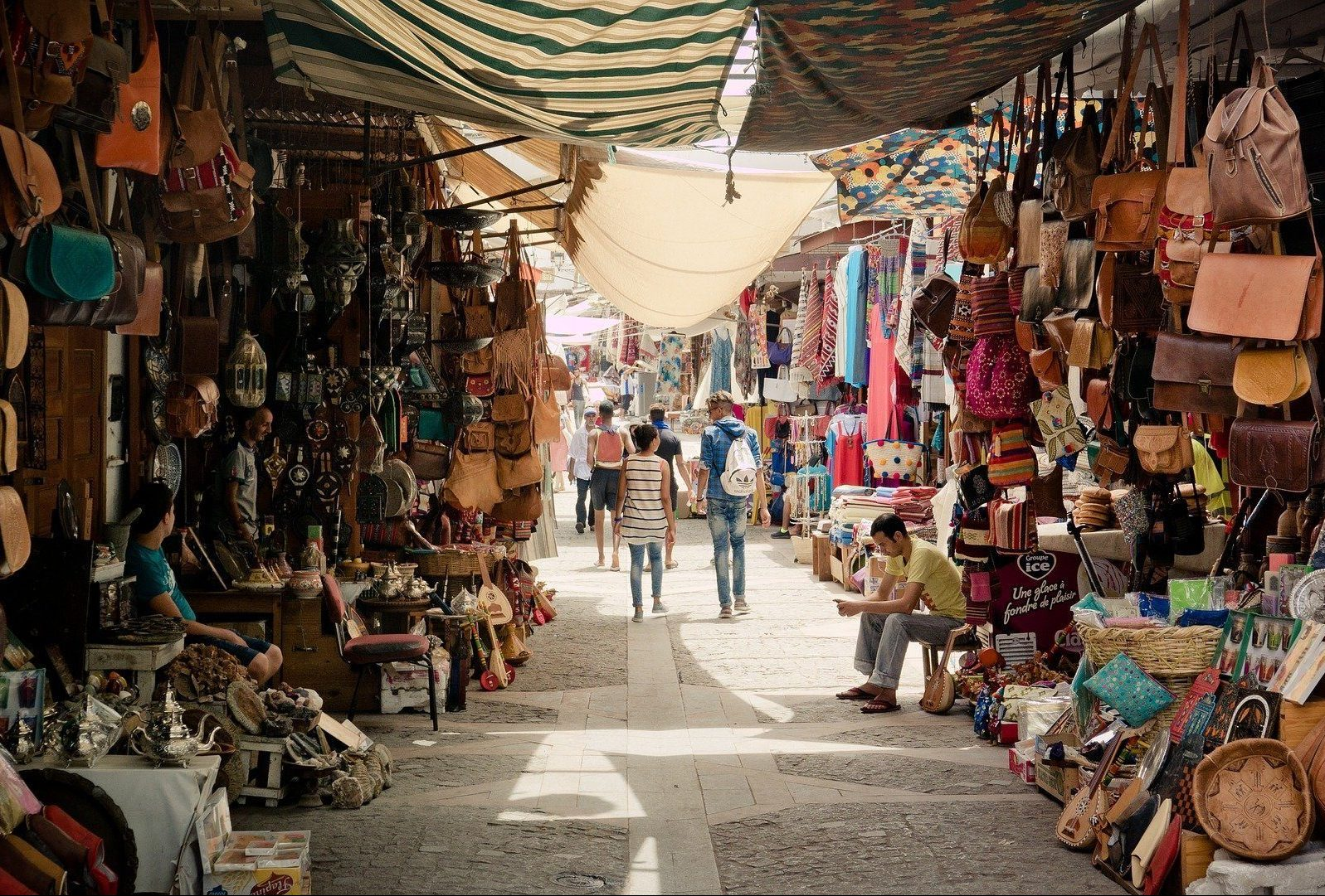 traditional souk in Morocco
